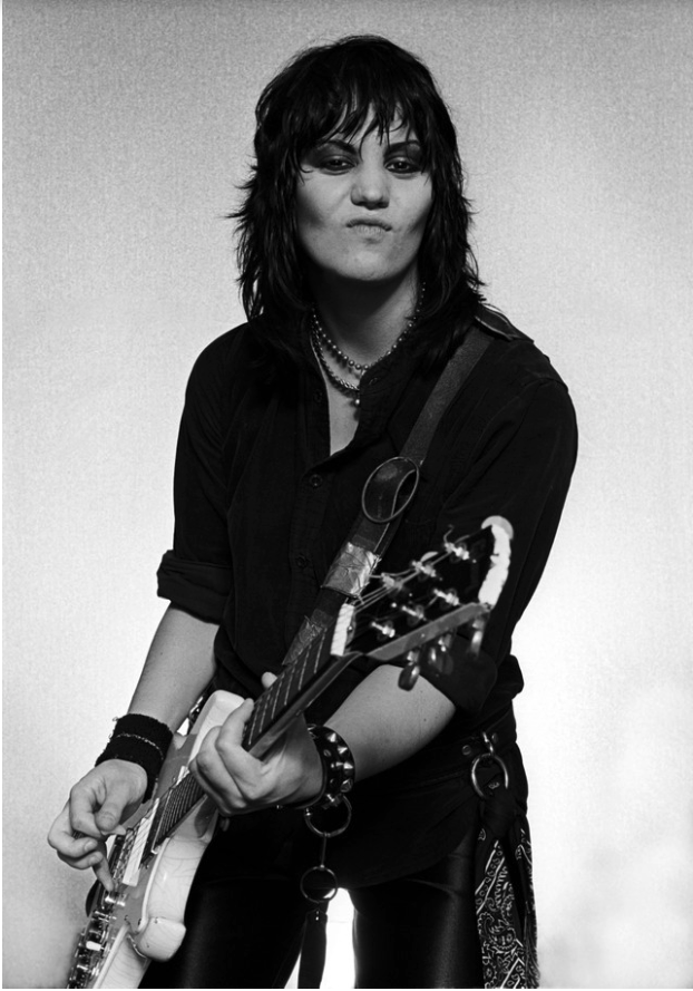 black and white photo of joan jett