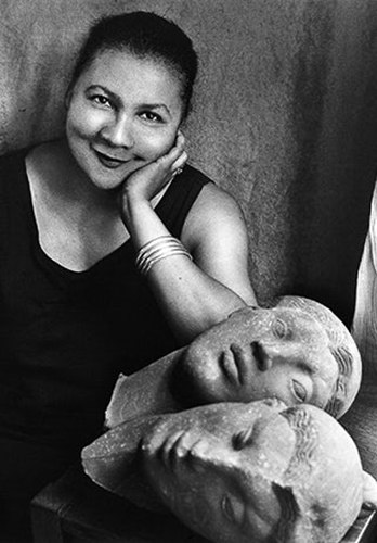 black and white photo of the author, bell hooks