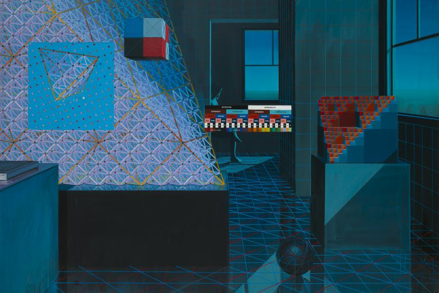 Clark Richert, Melancholia IV, 1994. Acrylic on canvas, 70 x 104 inches. Courtesy the artist.