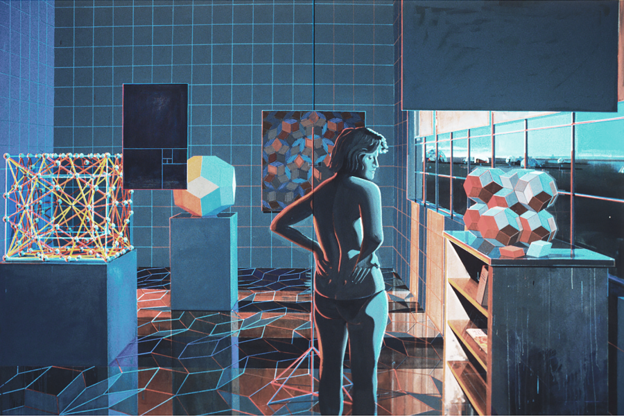 Clark Richert, True Story of the QuasiCrystal, 1989. Acrylic on canvas, 84 x 136 inches. Courtesy the artist.