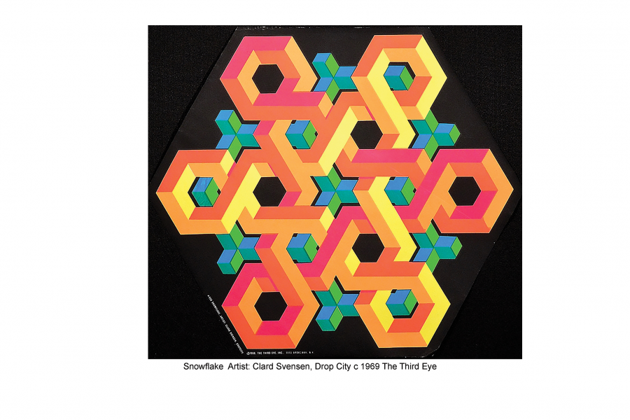Clark Richert, Snowflake, c. 1969. Black-light poster, 22 x 22 inches. Published by The Third Eye, Inc.
